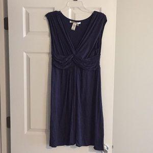 Blue casual dress